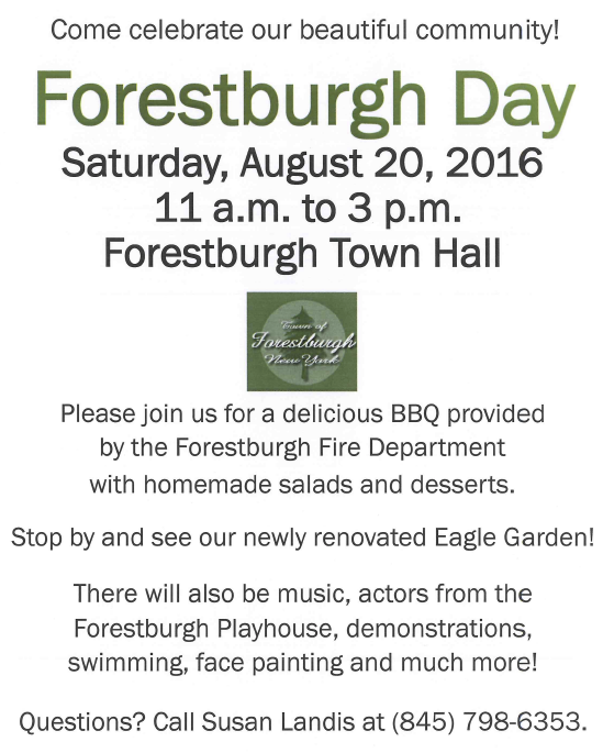 forestburgh day 2016