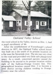 Town of Forestburgh NY - Oakland Valley school